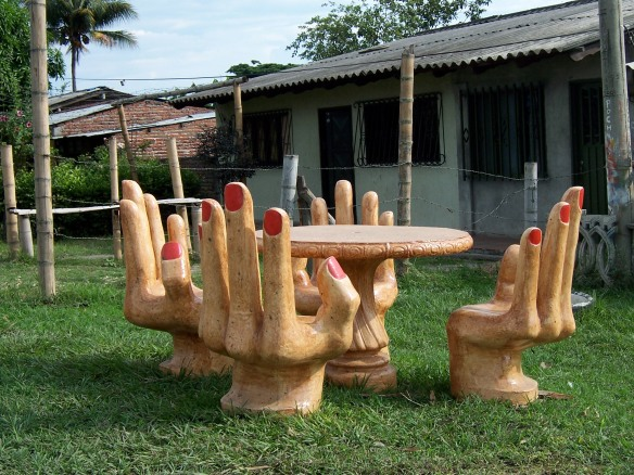 A four handed table. Colombia.